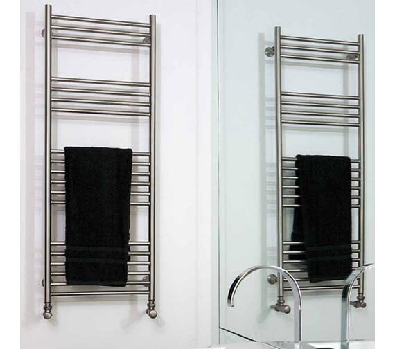Aeon Tora Wall Mounted Stainless Steel Towel Rail