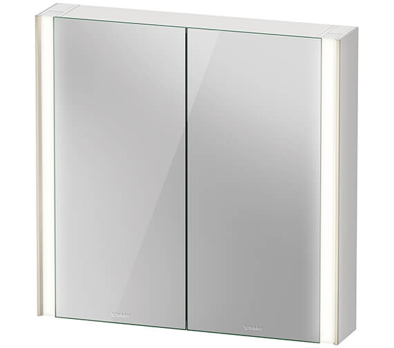 Duravit Xviu 800mm High Double Door Mirror Cabinet With Sensor Version