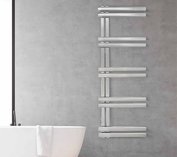 Aeon Trogon 500mm Wide Wall Mounted Stainless Steel Towel Rail