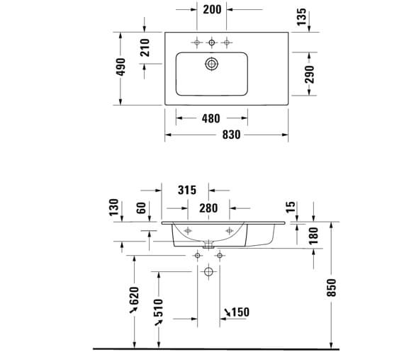 Technical drawing QS-V95682 / LC629101818