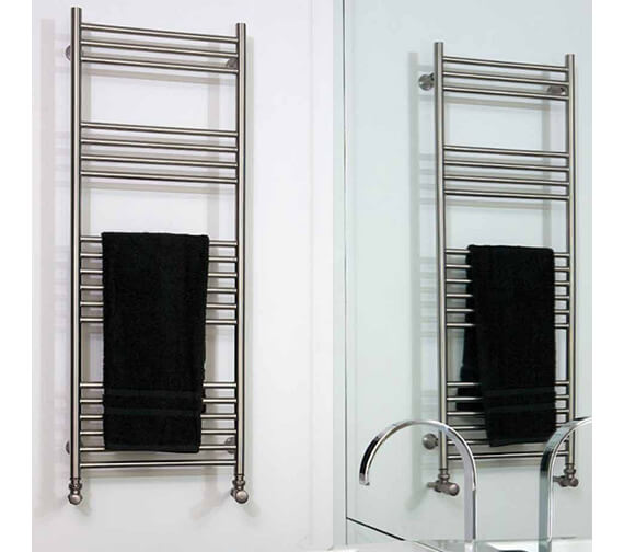 Aeon Tora 500mm Wide Wall Mounted Stainless Steel Towel Rail