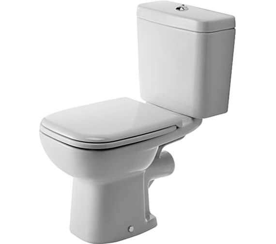 Duravit D-Code 650mm Close Coupled Toilet With Horizontal Outlet