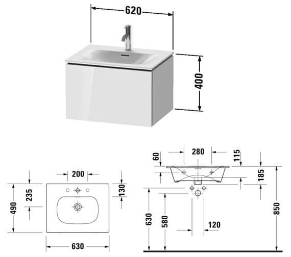 Technical drawing QS-V93878 / LC613501818