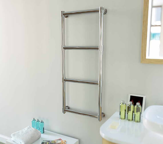Aeon Tudor 620mm Wide Wall Mounted Stainless Steel Towel Rail