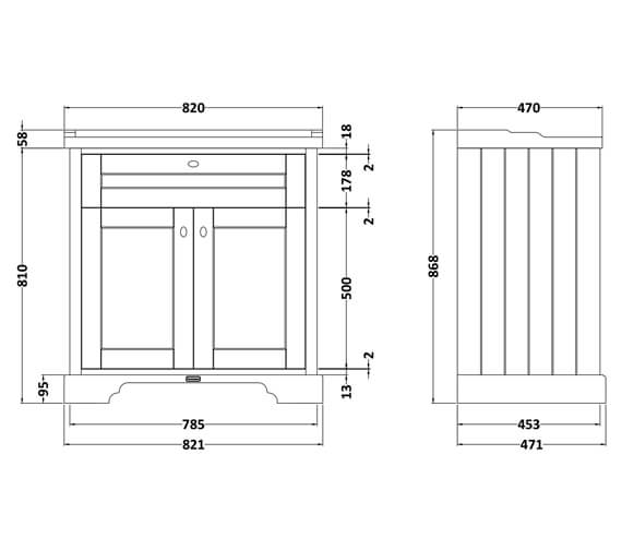 Technical drawing QS-V90772 / LOF203
