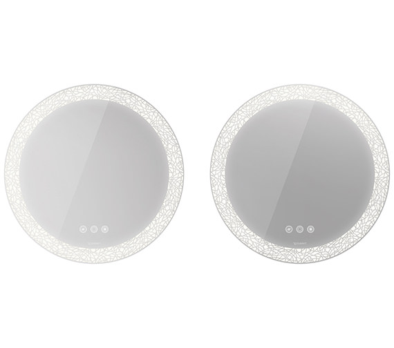 Duravit Happy D.2 Plus 700mm Mirror Set With LED Lighting - Icon Version