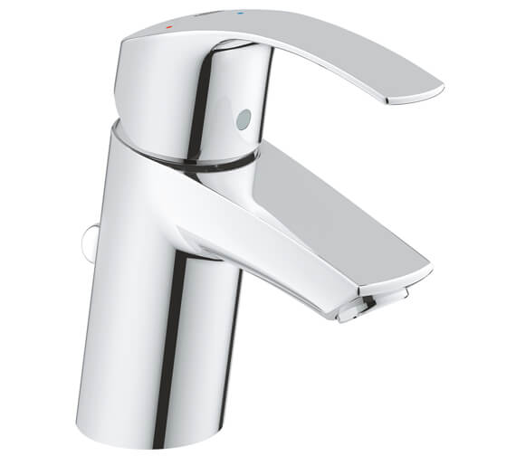 Grohe Eurosmart S-Size Basin Mixer Tap With Pop Up Waste