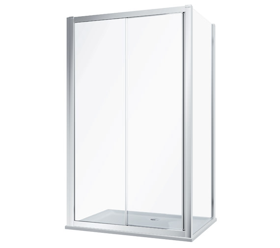 Twyford Geo Heavy-Duty Sliding Shower Door With 8mm Thick Glass