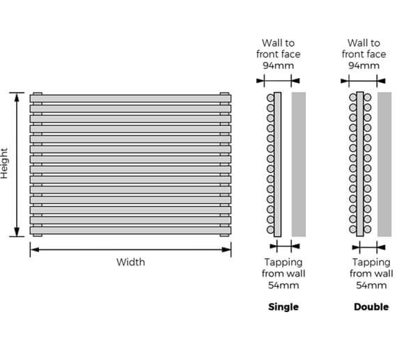 Technical drawing QS-V9347 / BATHWH-S-5108