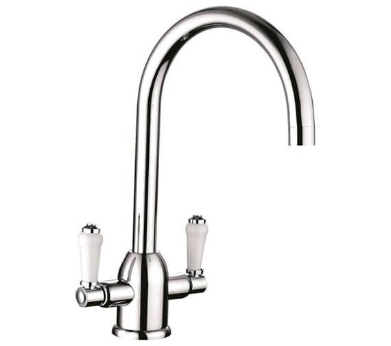 Clearwater Dephini C Twin Lever Monobloc Kitchen Sink Mixer Tap