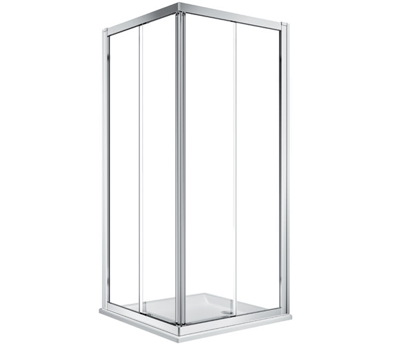 Twyford Geo Corner Entry Shower Enclosure With 6mm Glass