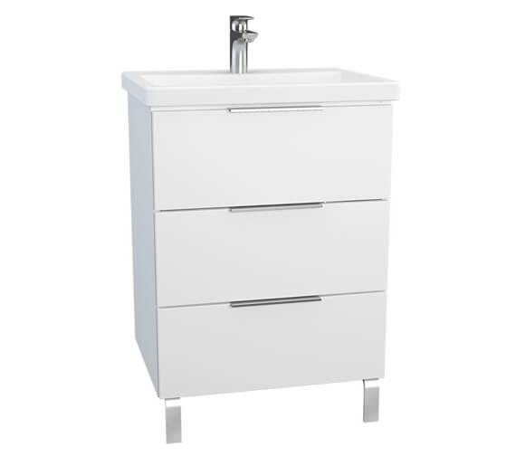 VitrA Ecora 3 Drawers Floorstanding Washbasin Unit With Legs