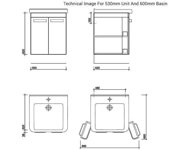 Technical drawing QS-V27844 / TA0001WH