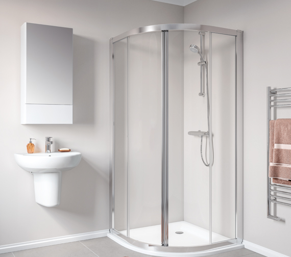 Additional image of Twyford Geo Quadrant Shower Enclosure With 6mm Glass