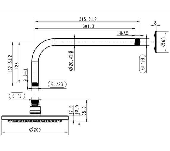 Technical drawing QS-V102503 / HOX.012CP