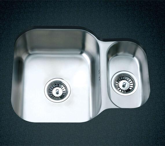 Clearwater Tango 594 x 460mm 1.5 Bowl Kitchen Sink