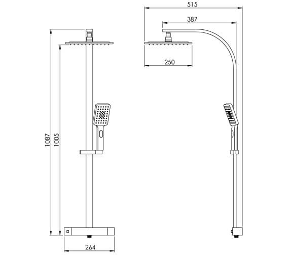 Technical drawing QS-V102319 / TO045
