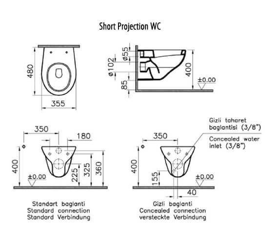 Technical drawing QS-V59825 / 6107L003-0075