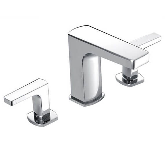 Roca Escuadra Deck Mounted Basin Mixer Tap With Pop up Waste