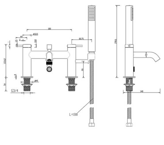 Technical drawing QS-V102320 / HOX.008CP