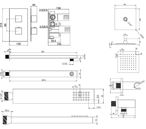 Technical drawing QS-V102323 / TOSP01