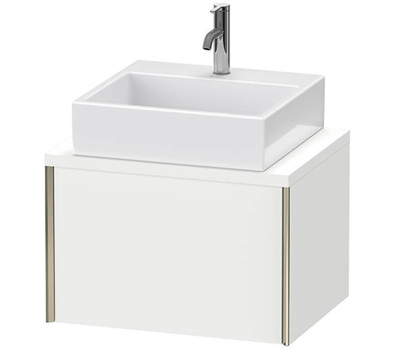 Duravit Xviu 1 Pull-Out Compartment Wall Mounted Vanity Unit With Console Compact