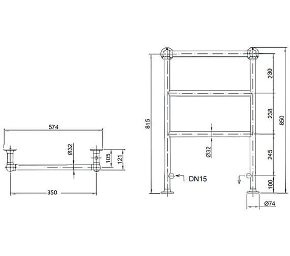 Technical drawing QS-V24364 / AHC76