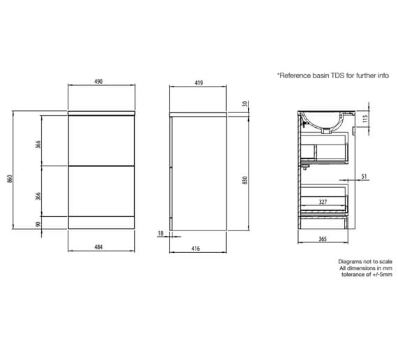 Technical drawing QS-V99387 / CA500F.W