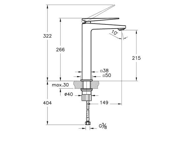Technical drawing QS-V101281 / A42610VUK