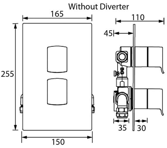 Technical drawing QS-V6958 / DSC SHCVO C
