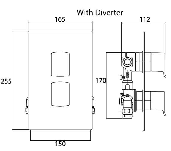 Additional image of Bristan Descent Dual Control Shower Valve