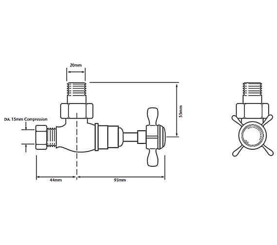 Technical drawing QS-V24376 / AHC75