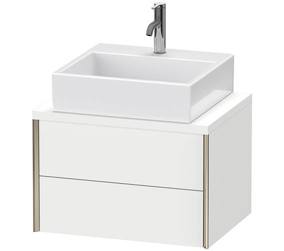 Duravit Xviu 2 Drawers Wall Mounted Vanity Unit With Console Compact