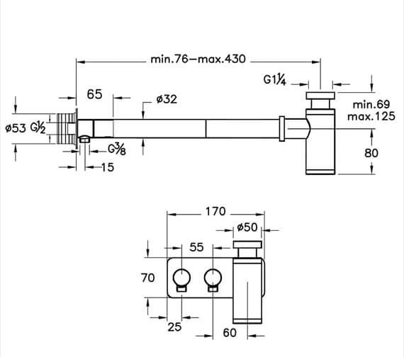 Technical drawing QS-V98111 / A45156