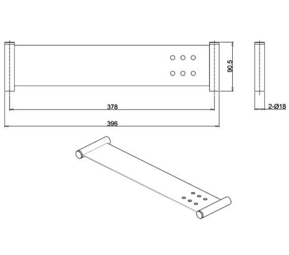 Technical drawing QS-V102510 / HOX.020CP