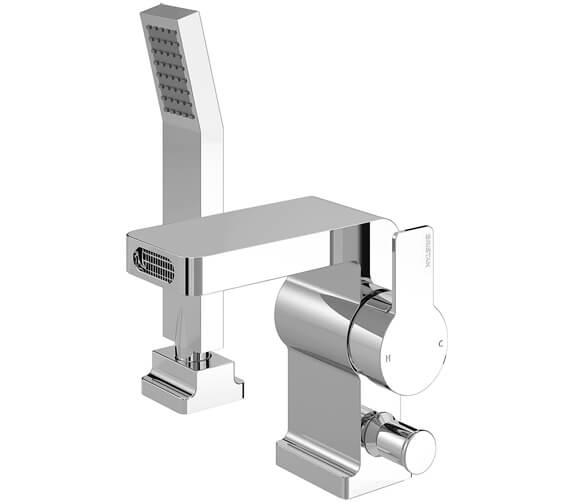 Bristan Exodus 2 Hole Deck Mounted Bath Shower Mixer Tap