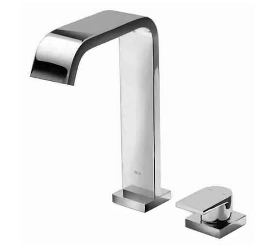 Roca Flat Deck Mounted 2 Hole Basin Mixer Tap With Pop up Waste