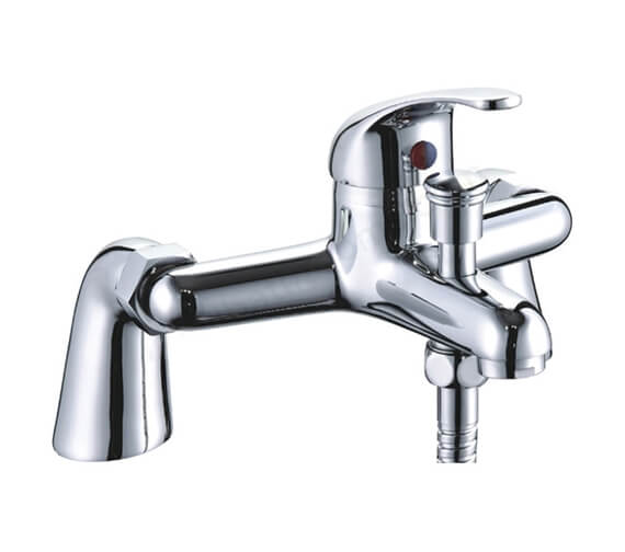 Essential Conway Bath Shower Mixer With Kit And Wall Bracket