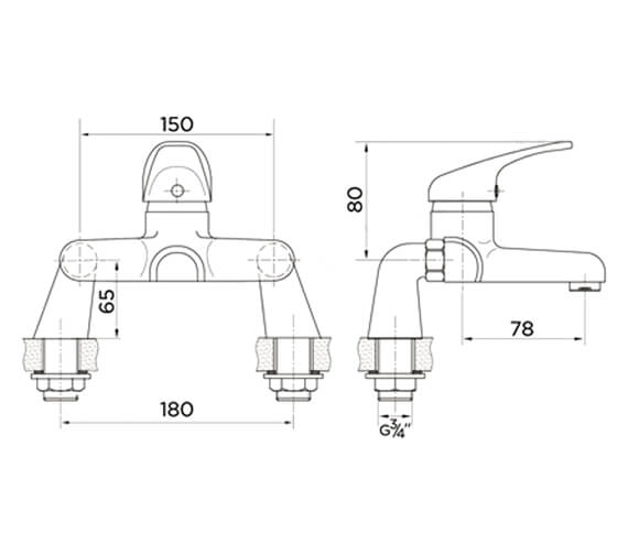 Technical drawing QS-V99399 / ET9116