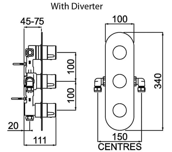 Technical drawing QS-V88380 / EXD SHC3DIV C