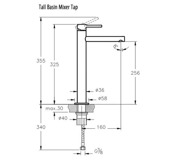 Technical drawing QS-V98112 / A42555VUK