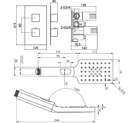Technical drawing QS-V102330 / TOSP03