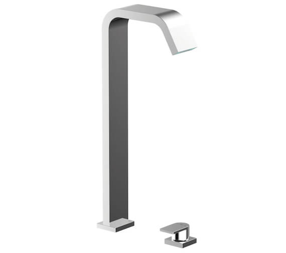 Roca Flat Two Hole Slim Basin Mixer Tap For Deck Mount Installation