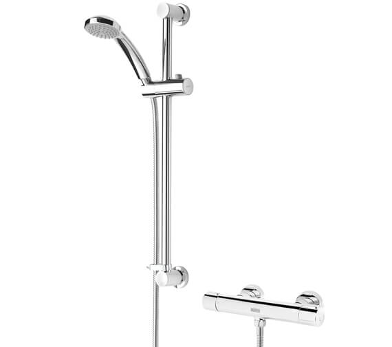 Bristan Frenzy Contemporary Cool Touch Bar Mixer Shower And Kit-FZ SHXSMCTFF C