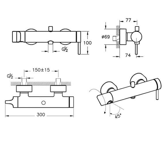Technical drawing QS-V98114 / A42619