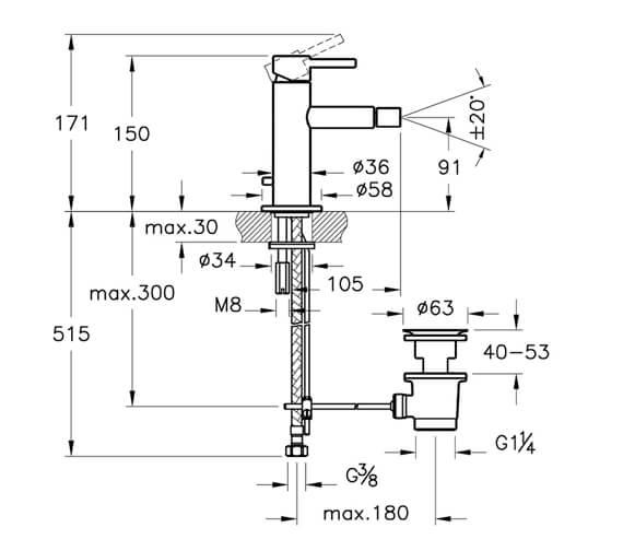 Technical drawing QS-V98115 / A42559VUK