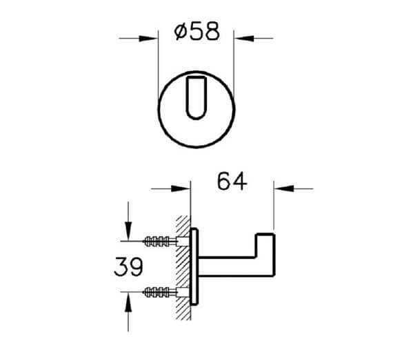 Technical drawing QS-V98116 / A44884