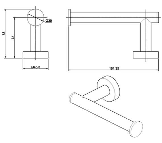 Technical drawing QS-V102511 / HOX.019CP