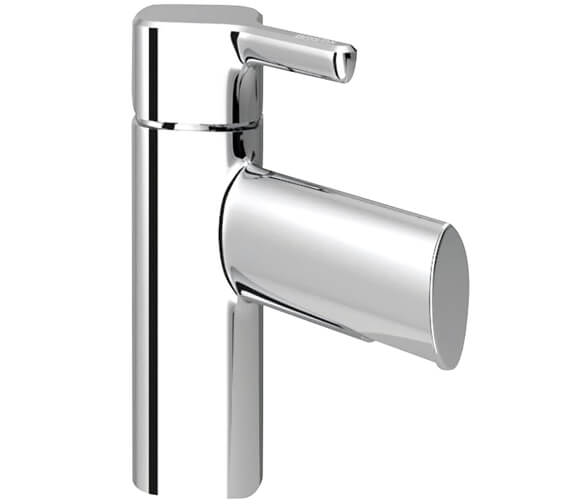 Bristan Flute Single Hole Basin Mixer Tap With Clicker Waste