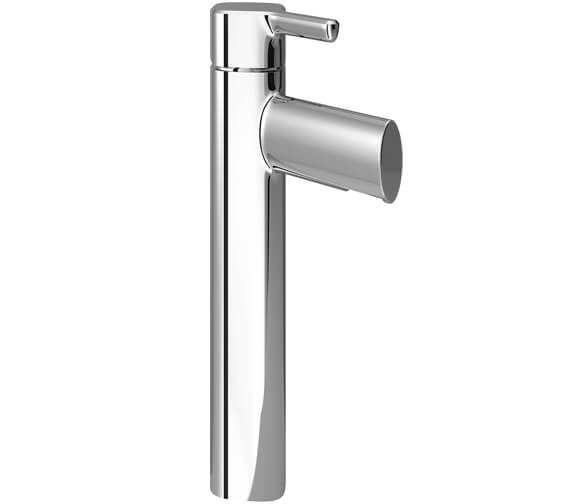 Bristan Flute Tall Basin Mixer Tap With Clicker Waste
